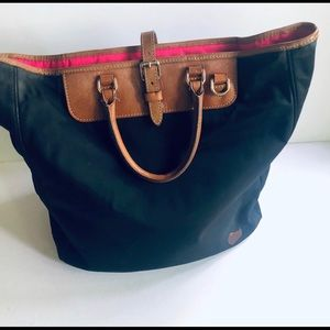 Dooney & Bourke Black nylon Editor's Tote Bag